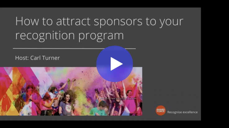 Watch: How to attract sponsors to your recognition program