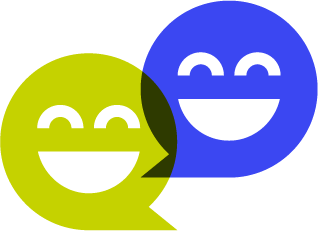 Smiling faces icon