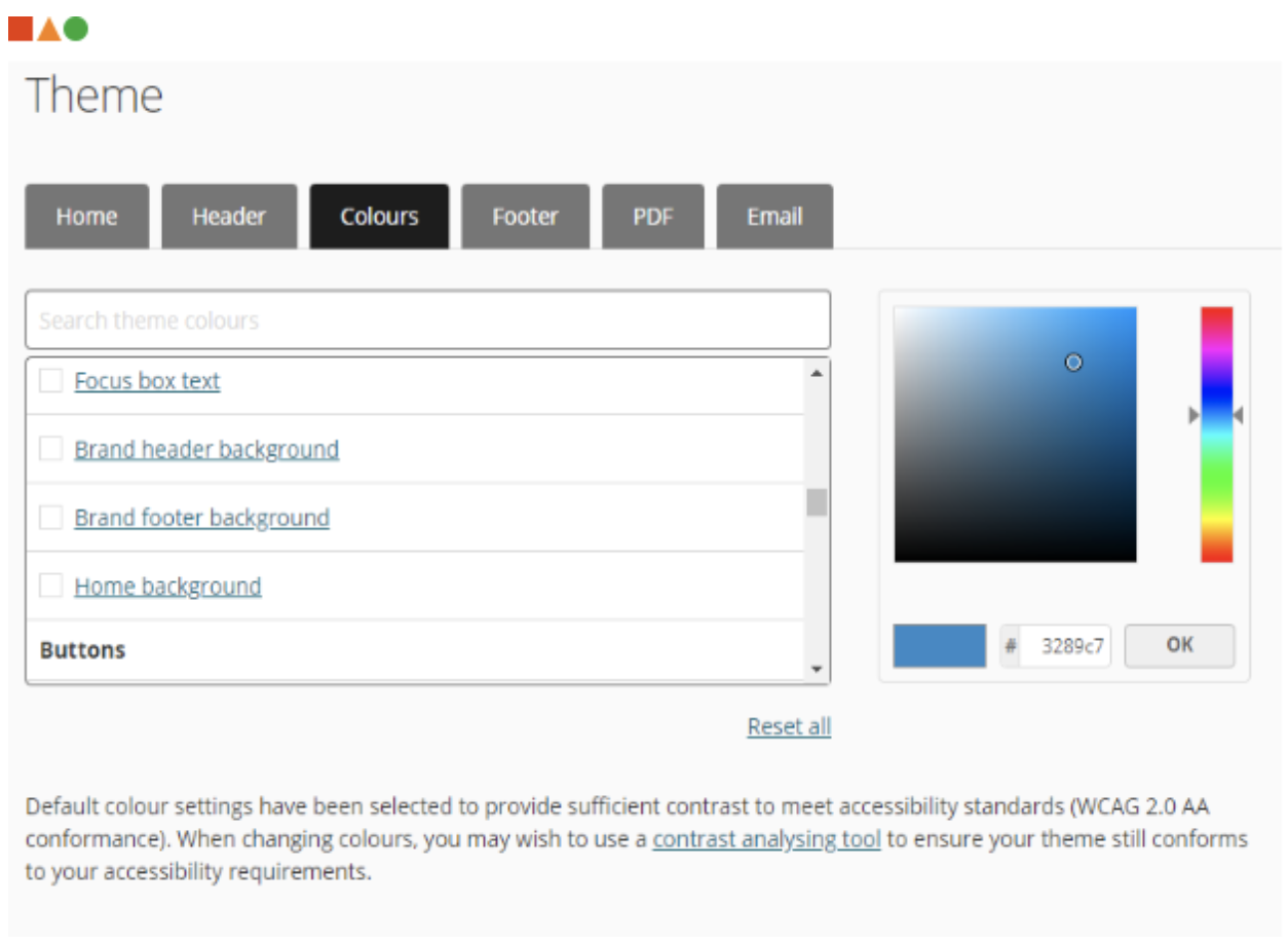 Theme configuration in award management system