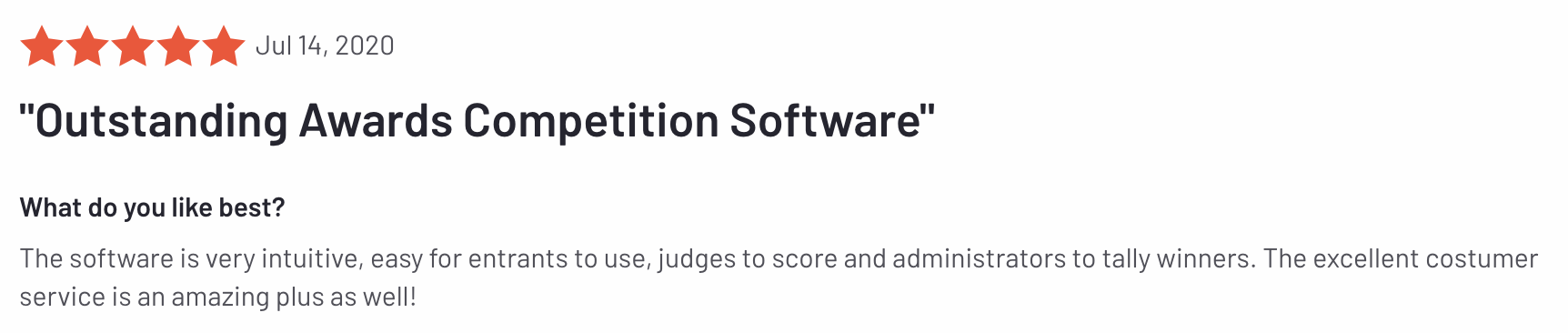 Outstanding awards competition software