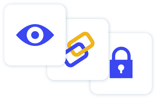 Icon of eye chain and lock