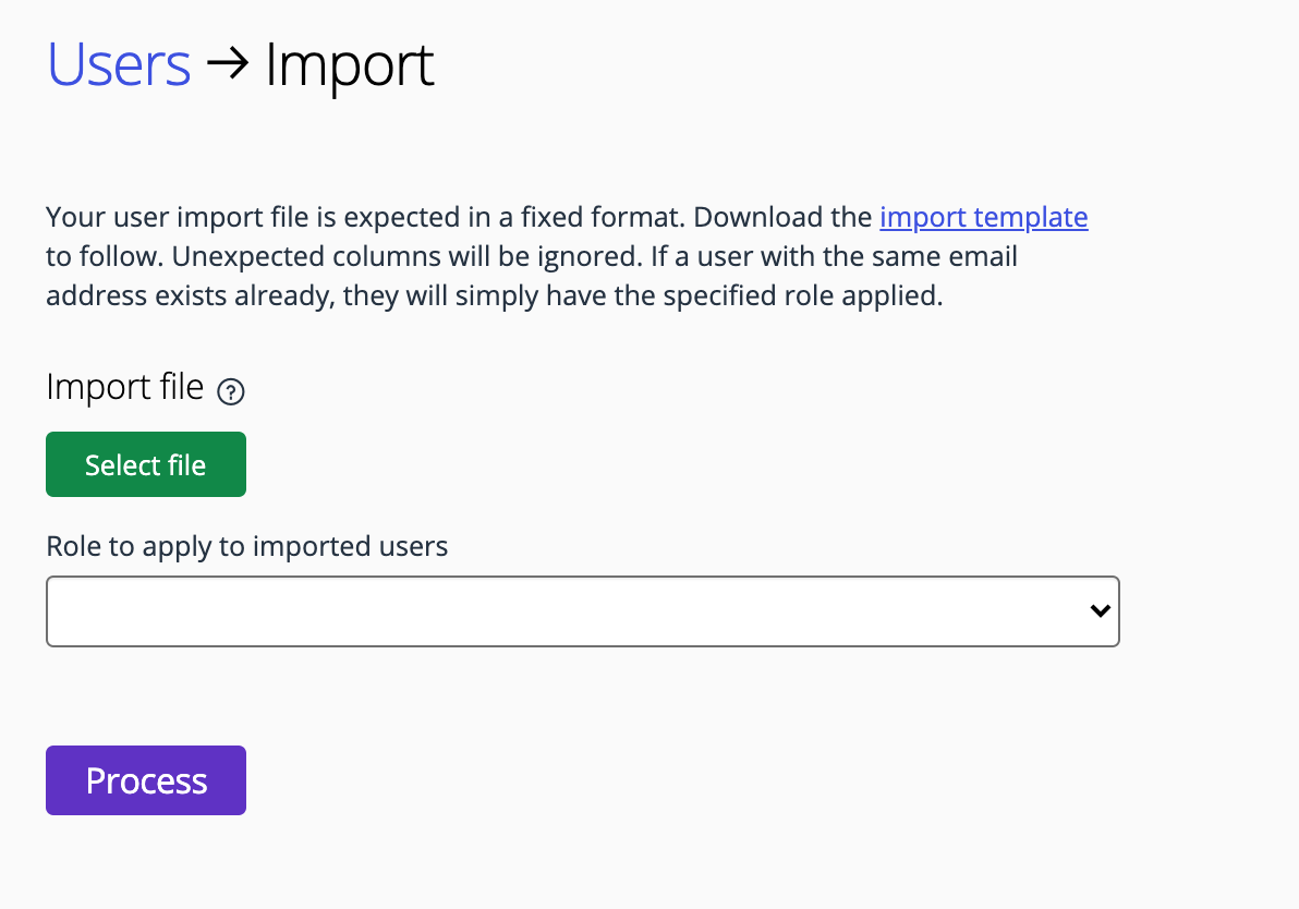 Import users into Good Grants
