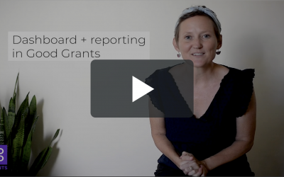 Feature focus – Dashboard and reporting in Good Grants