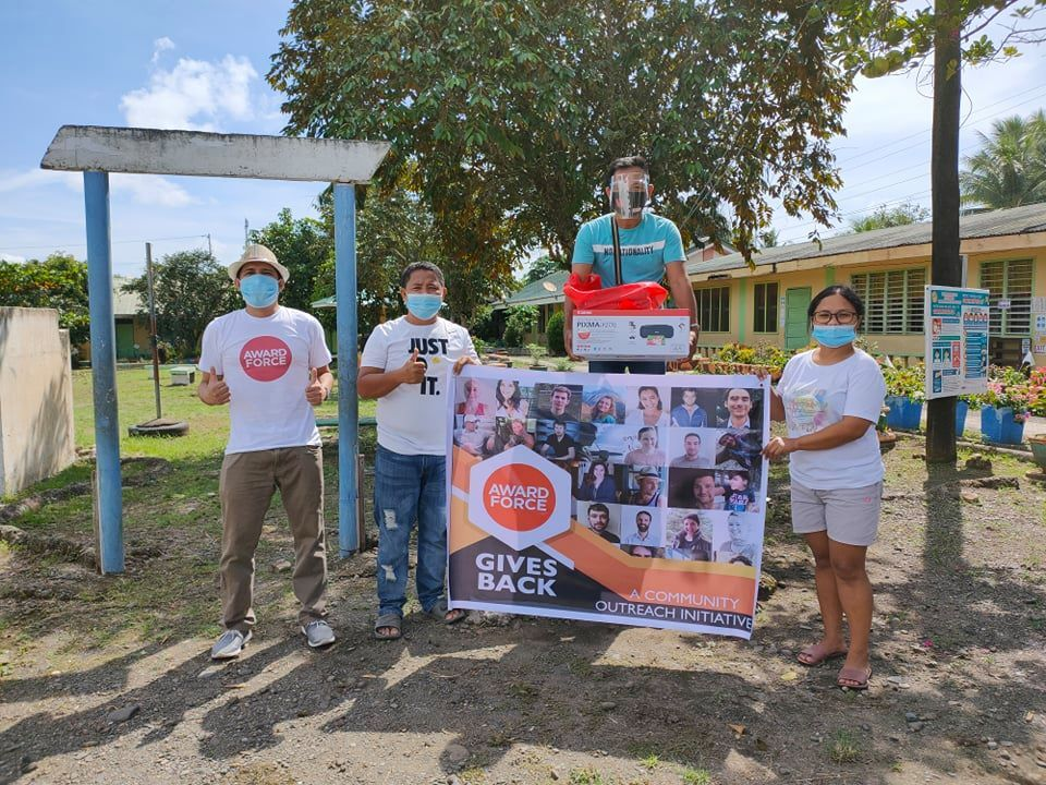Creative Force employee donates paper to rural schools in the Philippines
